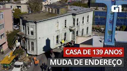 VÍDEO: casa de 139 anos é transportada para mudar de endereço em San Francisco
