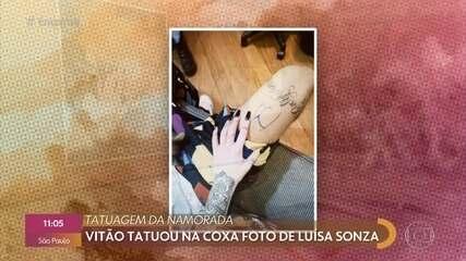 Luísa Sonza fala sobre tatuagem de Vitão em sua homenagem