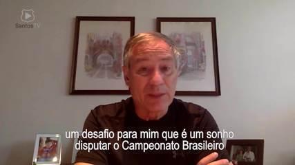 Para a Santos TV, confira a primeira entrevista de Ariel Holan como técnico do clube
