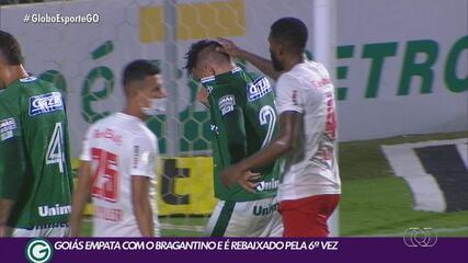 Goiás empata com Bragantino e é rebaixado à Série B do Brasileiro