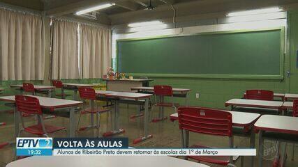 Aulas presenciais na rede municipal de Ribeirão Preto voltam no dia 1 de março