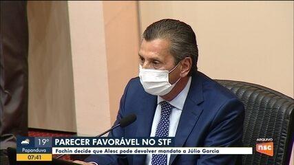 Alcatraz: Fachin decide que Alesc pode devolver mandato a Júlio Garcia