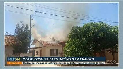 Morre idosa ferida em incêndio em Cianorte