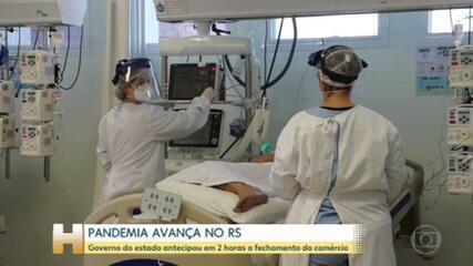 O estado do Rio Grande do Sul enfrenta o pior momento da pandemia