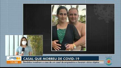 Casal morre de Covid-19 e suspeitos furtam a casa deles no mesmo dia, em Cajazeiras, PB