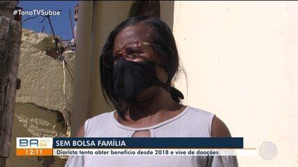 Diarista tenta obter benefício do bolsa família desde 2018 e vive de doações
