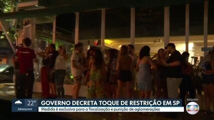 Governo decreta toque de restrição em São Paulo