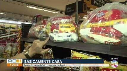 Caruaru registrou aumento no preço da cesta básica em 5 dos últimos 6 meses, apontam dados