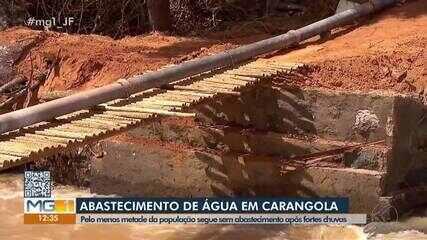 Município de Carangola está sem abastecimento de água há quase uma semana