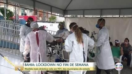 Governo da Bahia anuncia lockdown em 90% das cidades, no fim de semana
