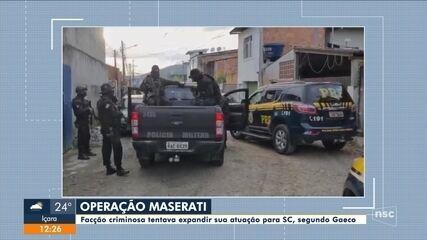 Polícia Civil deflaga operação para barrar avanço de facção criminosa em SC