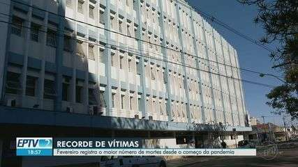 Franca, SP, tem 60 mortes por Covid-19 em fevereiro, o maior desde 2020