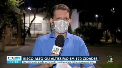 Risco alto ou altíssimo em 170 cidades do Ceará
