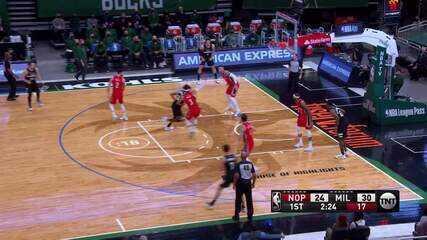 Melhores momentos: Milwaukee Bucks 129 x 125 New Orleans Pelicans pela NBA