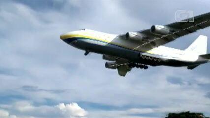 Segunda maior aeronave cargueira do mundo chega a Belém