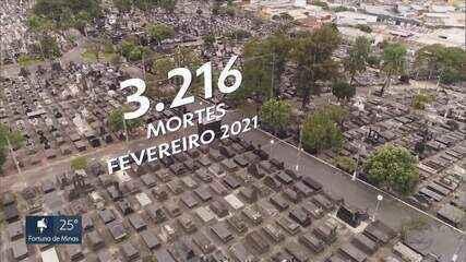Fevereiro já é o mês com mais mortes por Covid-19 registradas no estado