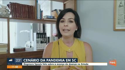 Colunista Dagmara Spautz comenta situação da Covid-19 em SC