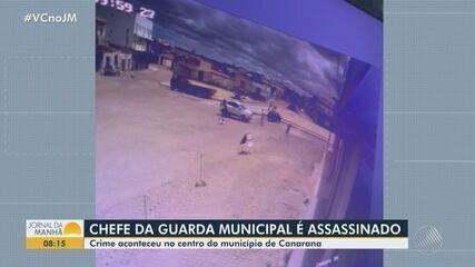 Chefe da Guarda Municipal de Canarana, na BA, é morto a tiros em praça do município