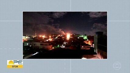 Explosão por vazamento de gás é registrada em Vitória de Santo Antão