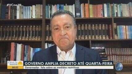 Rui Costa se emociona ao falar sobre atual momento da pandemia na Bahia