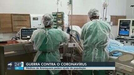 Médicos de Araraquara fazem nota pública e apelam por ajuda da população contra a Covid