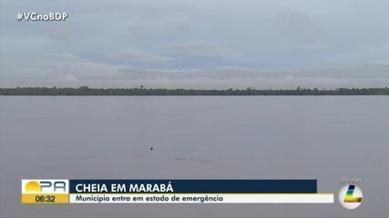 Em Marabá, rio Tocantins ultrapassa dez metros e município entra em estado de emergencia