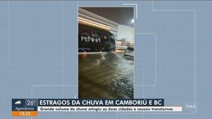 Chuva causa estragos em cidades do Litoral Norte de SC