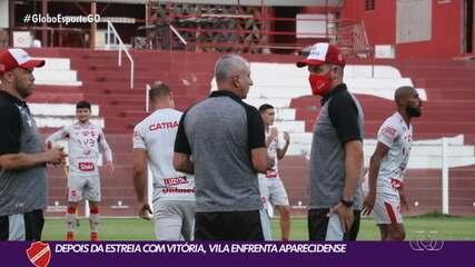 Vila Nova já pensa na Aparecidense, rival desta quinta-feira