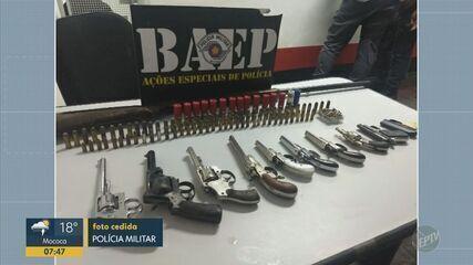Três pessoas são presas por porte ilegal de armas em Campinas