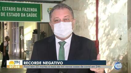 Secretário de saúde fala sobre agravamento da pandemia da Covid-19 no PI