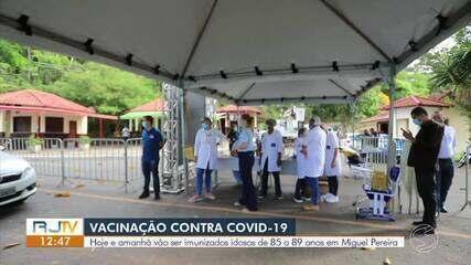 Miguel Pereira inicia vacinação em idosos entre 85 e 89 anos