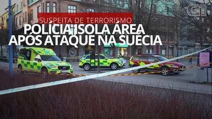 VÍDEO: Polícia isola área onde ataque a facadas ocorreu na Suécia
