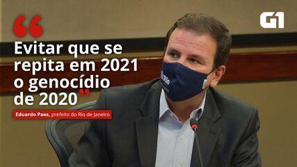 VÍDEO: Paes diz que novas medidas têm objetivo de 'evitar que se repita em 2021 o genocídio de 2020'