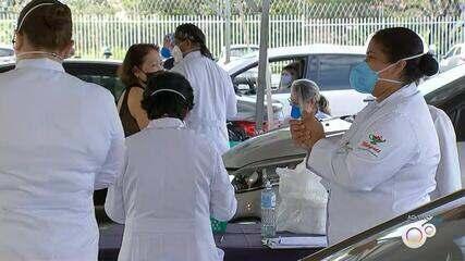Sorocaba aplica 2ª dose da vacina contra Covid em idosos e profissionais de saúde