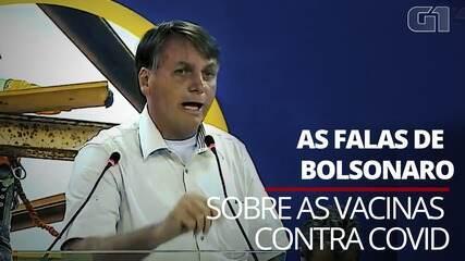 Veja as falas de Bolsonaro sobre as vacinas contra a Covid-19