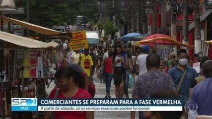 Comerciantes de São Paulo se preparam para a Fase Vermelha