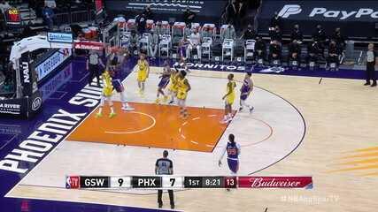 Melhores momentos: Phoenix Suns 120 x 98 Golden State Warriors, pela NBA