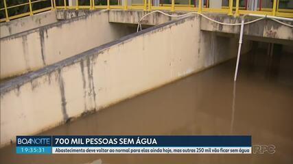 Mesmo com rodízio suspenso milhares de pessoas ficam sem água em Curitiba e região