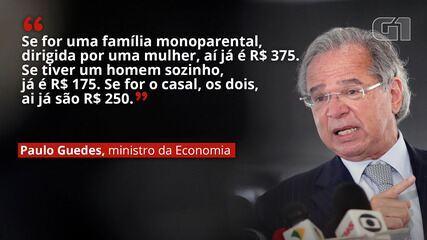 VÍDEO: Paulo Guedes diz que novo auxílio emergencial ficará entre R$ 175 e R$ 375