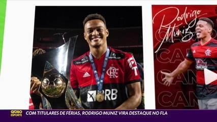Com titulares de férias, Rodrigo Muniz vira destaque no Flamengo