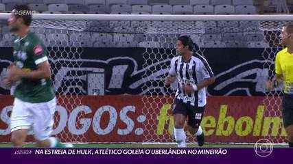 Na estreia de Hulk, Atlético aplica goleada no Uberlândia pelo Campeonato Mineiro