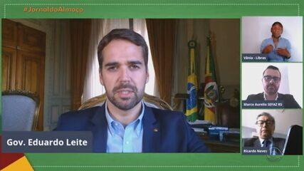 Governador do RS anuncia aumento de prazo de vencimento e recolhimento de tributos