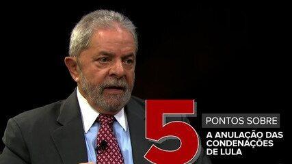 5 pontos sobre a anulação da condenação de Lula