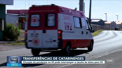 Situação da pandemia no ES pode suspender transferência de pacientes de SC com Covid