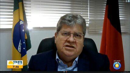 Governador João Azevêdo fala sobre medidas do novo decreto na Paraíba