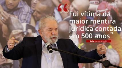 VÍDEO: 'Fui vítima da maior mentira jurídica contada em 500 anos', diz Lula