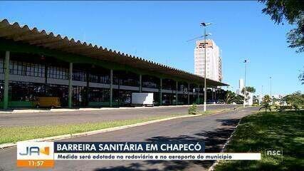 Chapecó adota barreira sanitária na rodoviária e no aeroporto do município