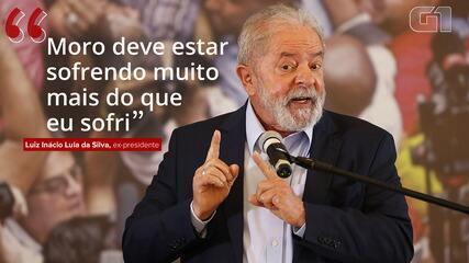 VÍDEO: Moro 'deve estar sofrendo muito mais do que eu sofri', diz Lula