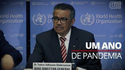 Um ano de pandemia: veja a cronologia das declarações e alertas da OMS