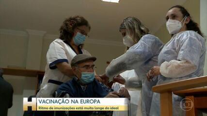 Vacinação na Europa: ritmo de imunizações está muito longe do ideal